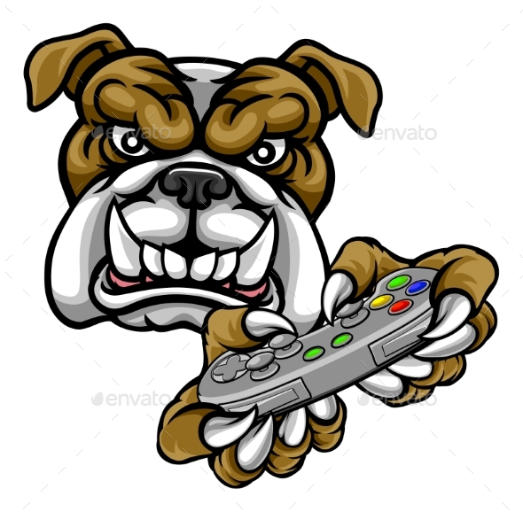 GraphicRiver Bulldog Esports Gamer Mascot 20423067