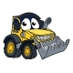 Digger Bulldozer Cartoon Mascot
