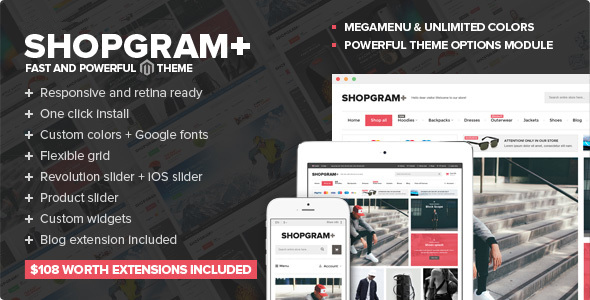 Shopgram - Responsive Magento Theme