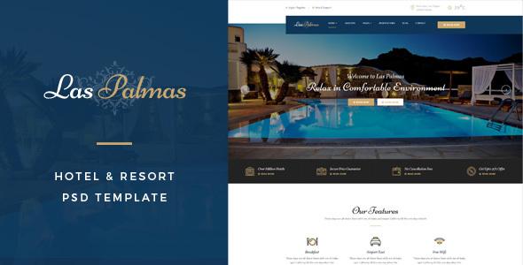 Las Palmas : Hotel & Resort PSD Template