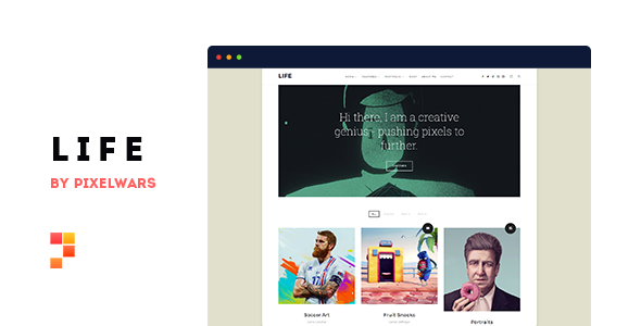 Life - Boxed Portfolio WordPress Theme - Portfolio Creative
