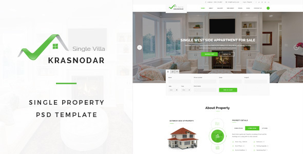 Krasnodar : Single Property PSD Template