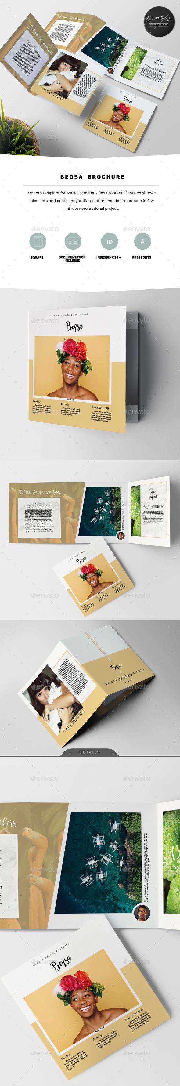 Beqsa Square Trifold Brochure - Portfolio Brochures