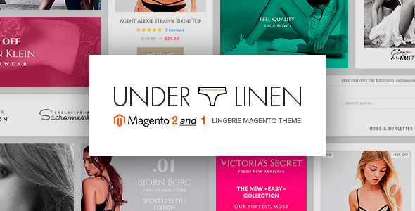 Underlinen - Lingerie Magento 2 and Magento 1 Theme