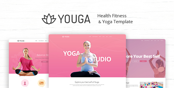 Youga - Yoga Studio PSD Template - Health & Beauty Retail