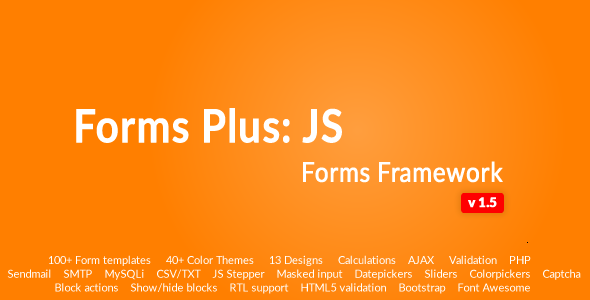Form Framework with Validation & Calculation - Forms Plus: JS
