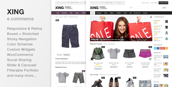 Xing - Business e commerce WordPress Theme