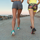 Back view of two young fitness women running - PhotoDune Item for Sale