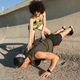 Young healthy fitness couple doing sport exercises - PhotoDune Item for Sale