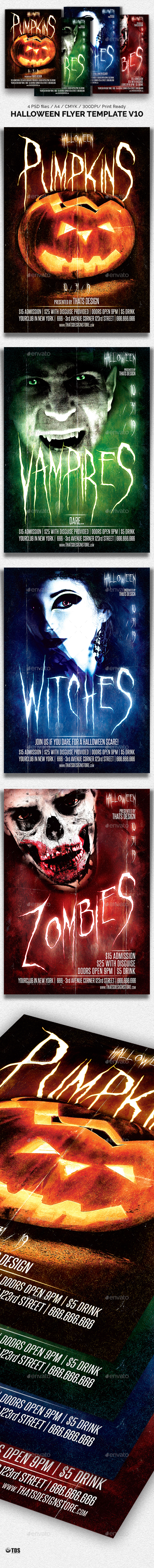 Halloween Flyer Template V10 - Holidays Events