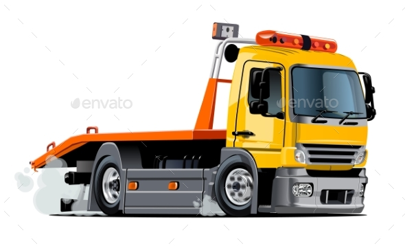 GraphicRiver Cartoon Tow Truck 20423794