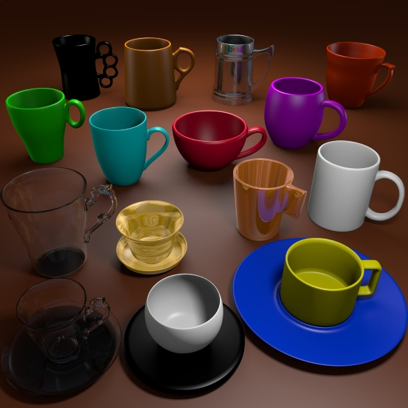 3D Cup Pack - 3DOcean Item for Sale