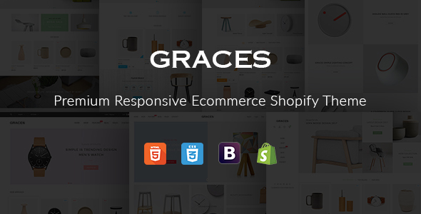 Graces –  Responsive Ecommerce Shopify Template With Section Drag & Drop