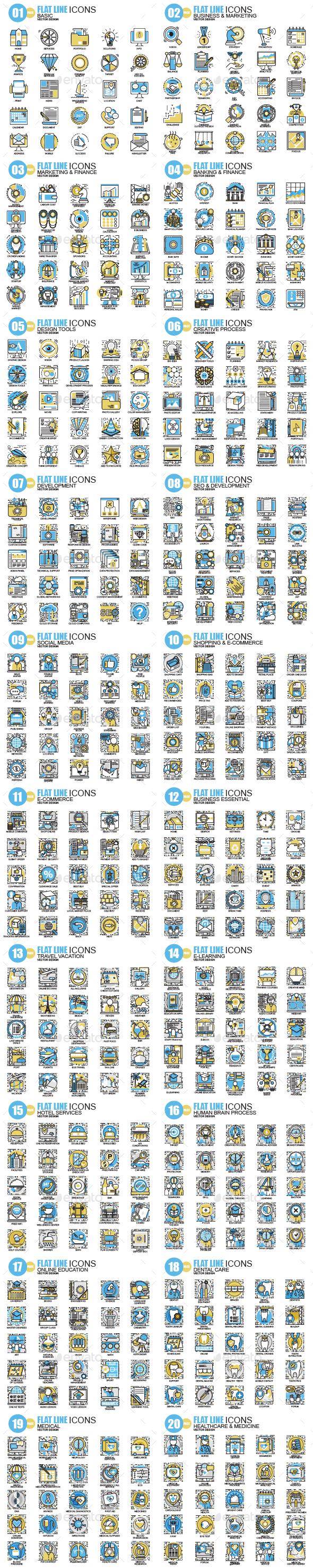 GraphicRiver Line Icons 20423969