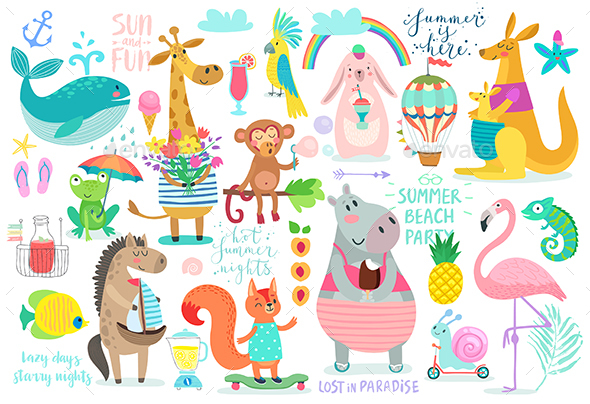 GraphicRiver Animals Hand Drawn Style 20423979