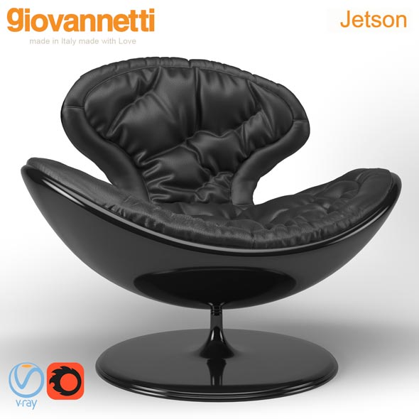 Giovannetti Jetson Armchair - 3DOcean Item for Sale