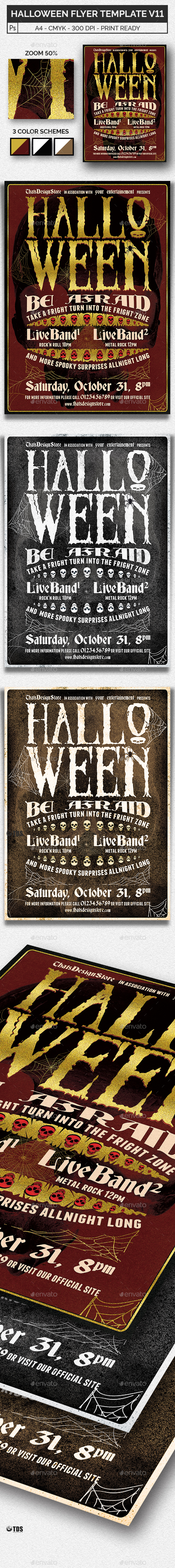 Halloween Flyer Template V11 - Concerts Events