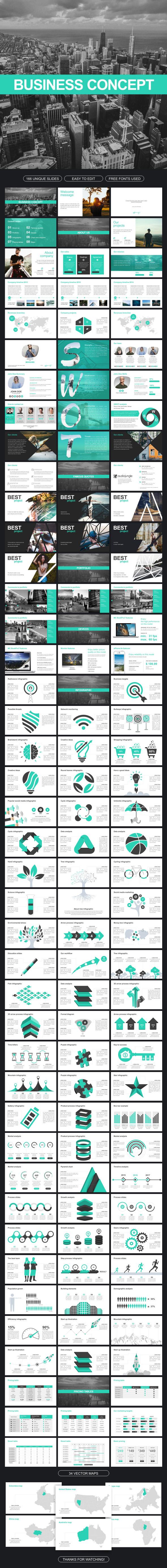 Business Concept Google Slides - Google Slides Presentation Templates