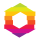 Hexagonal Colorful Stripes Logo