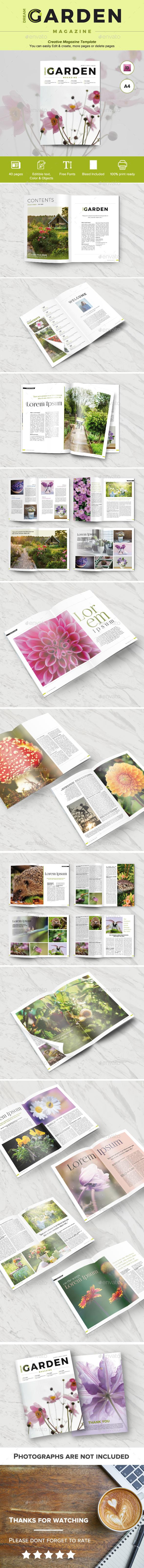 Dream Garden Magazine - Magazines Print Templates