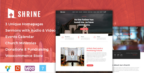 Shrine - A Multipurpose Responsive Church WordPress Theme