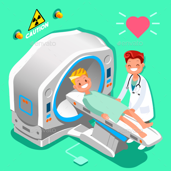 Hospital Doctor Cartoon Isometric People Vector - Health/Medicine Conceptual