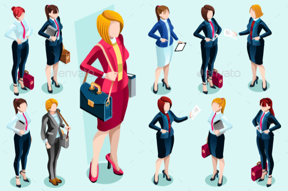 GraphicRiver Isometric People 20424777