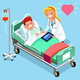 Medical Infographic Isometric People Cartoon