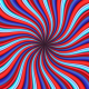 Crazy Undulating Psychedelic Rays - VideoHive Item for Sale