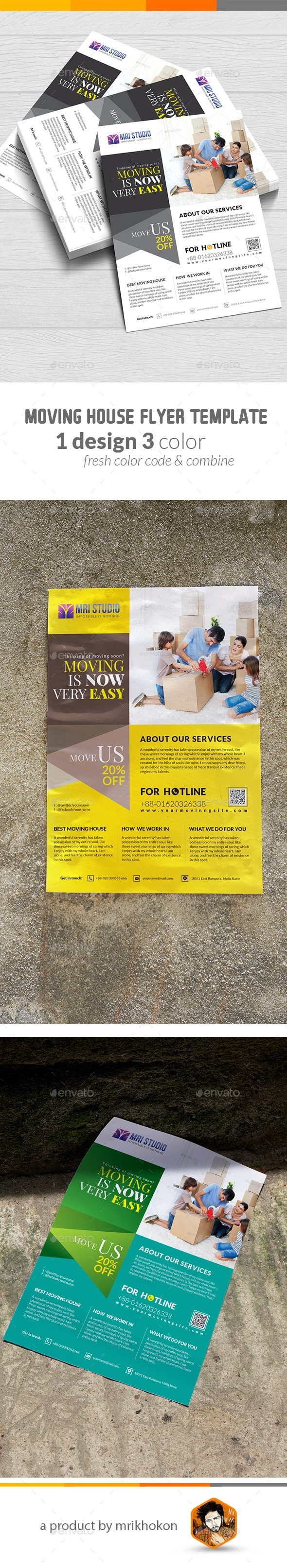 Moving House Flyer - Flyers Print Templates