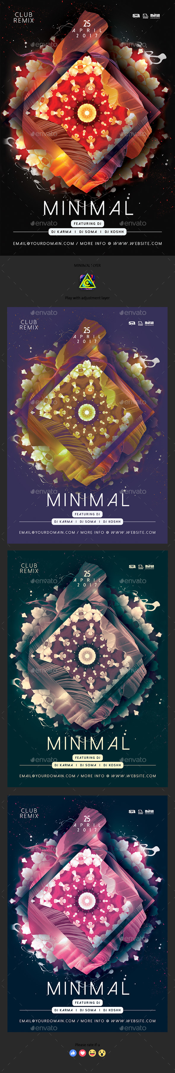 GraphicRiver Minimal Flyer 20425255