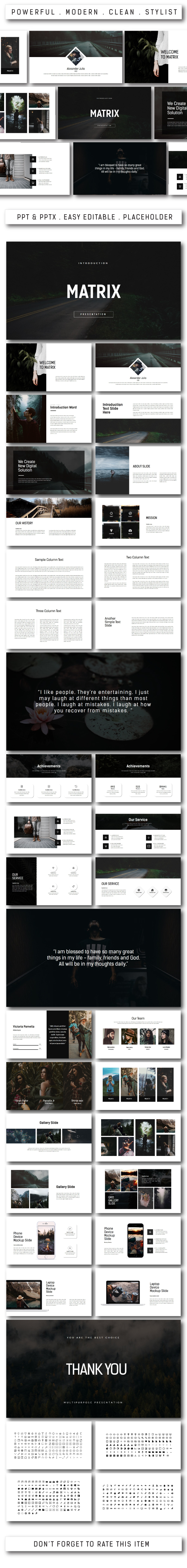 Matrix Multipurpose Powerpoint - PowerPoint Templates Presentation Templates
