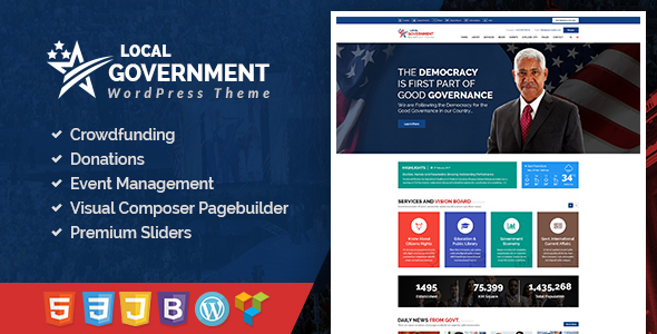 Local Government WordPress Theme for Town & Municipality Websites