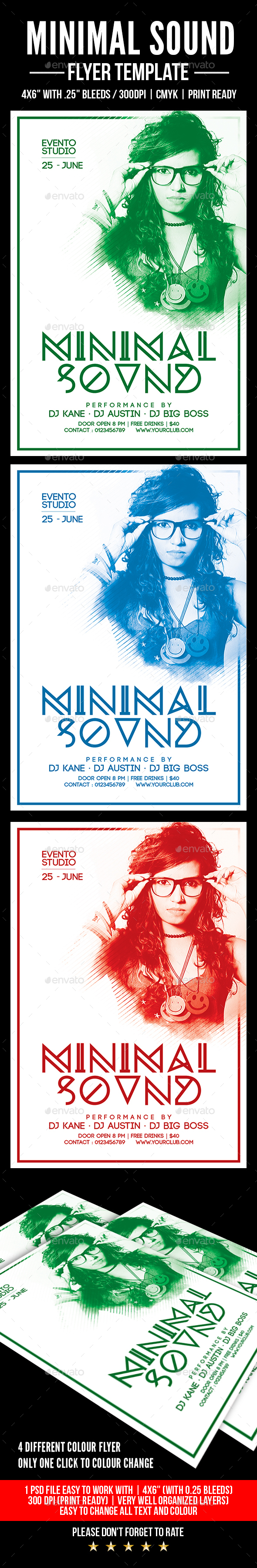 Minimal Sound Flyer - Events Flyers