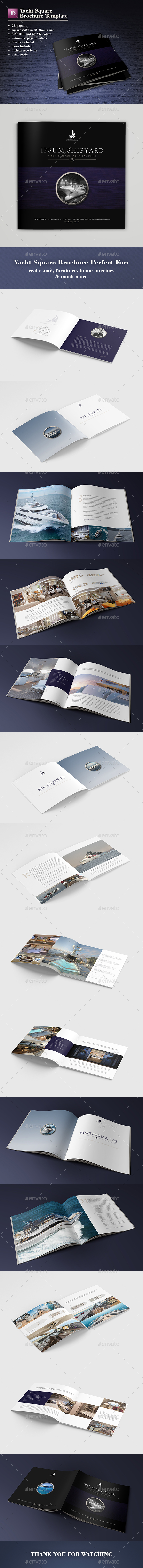 Yacht Square Brochure Template - Catalogs Brochures