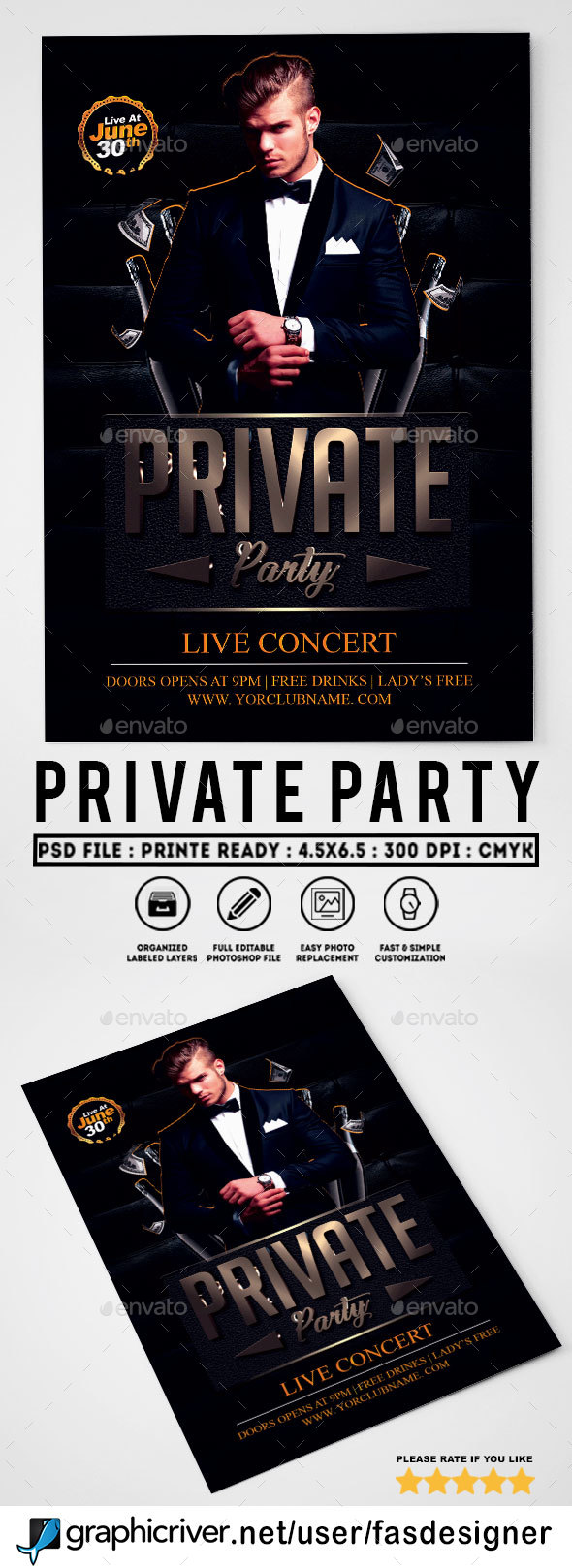 Private Party Flyer - Clubs & Parties Events