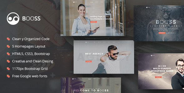 Booss | Creative Multipurpose Marketing HTML Template