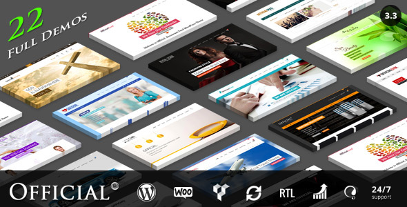 Official Website WordPress Theme + RTL - Corporate WordPress