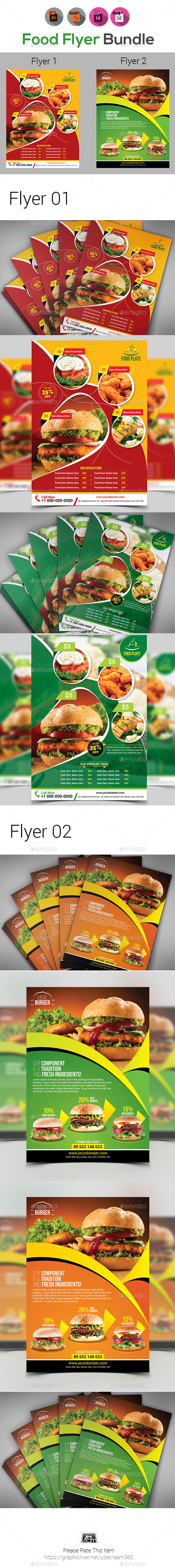 Restaurant or Food Flyer Templates - Restaurant Flyers