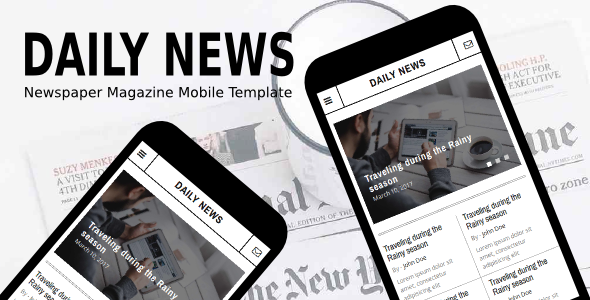 Daily News - Newspaper Magazine Mobile Template - Mobile Site Templates