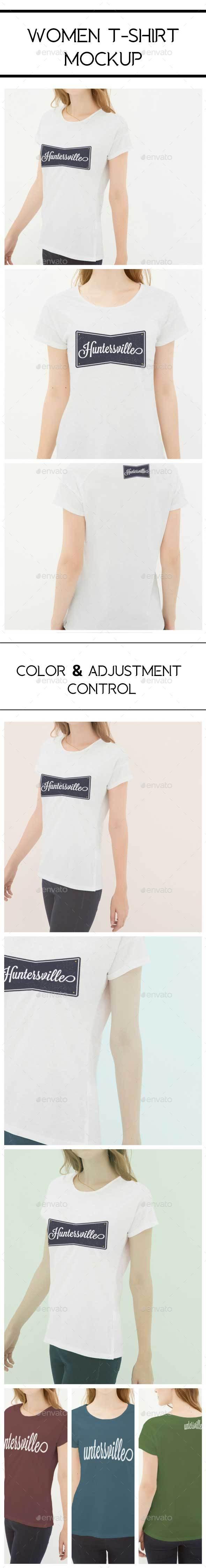 GraphicRiver Women Tshirt Mockup 20426578
