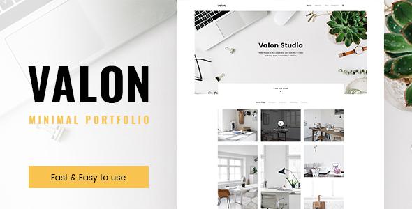 Valon – Portfolio Psd Template