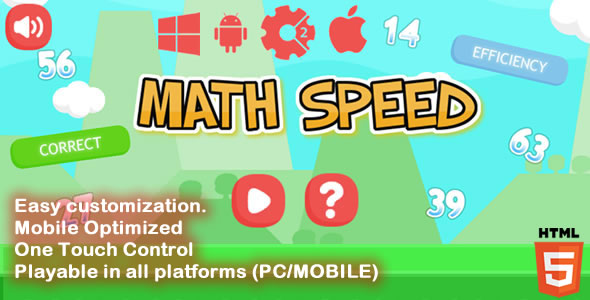 CodeCanyon Math Speed HTML5 Game Capx 20426771