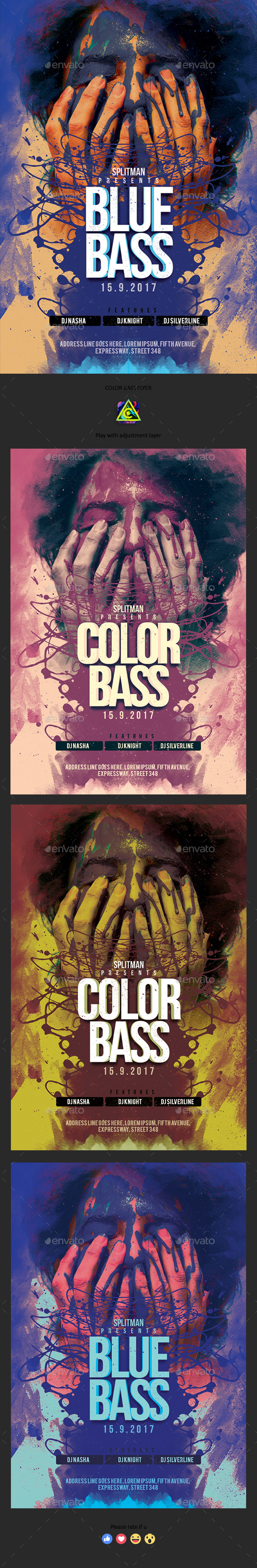 Color Bass Flyer - Clubs & Parties Events