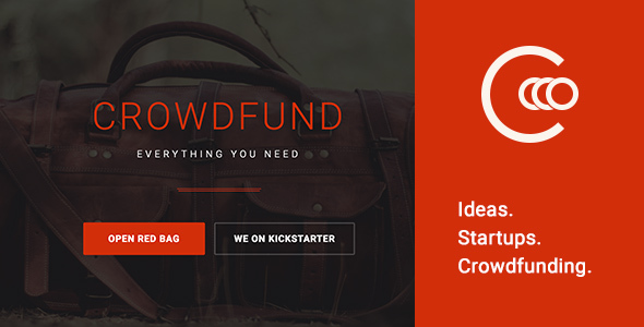 Crowdfund - One page template for crowdfunding and startups