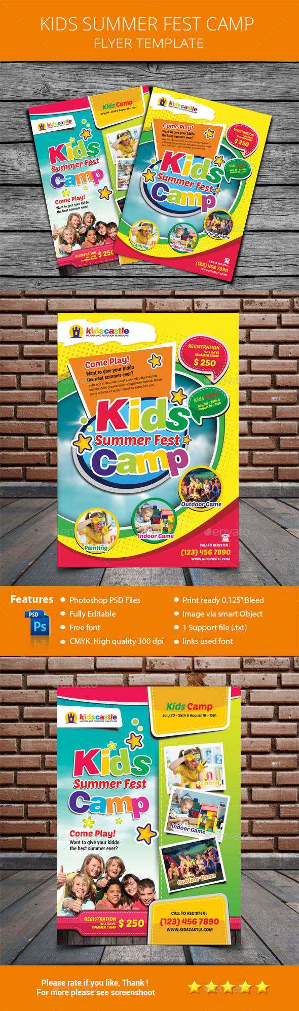 GraphicRiver Kids Summer fest Camp Flyer 20426843