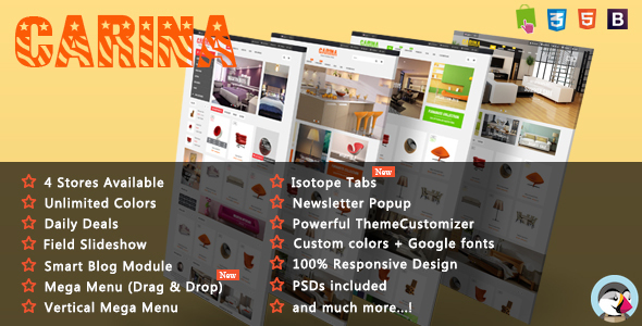 Carina - Furniture Responsive Prestashop Theme