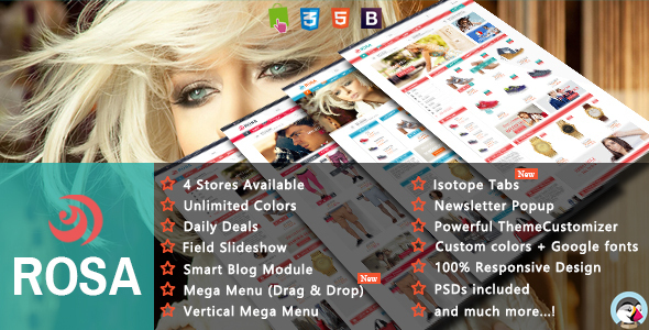 Rosa - Shopping & Accessories Responsive Prestashop Theme