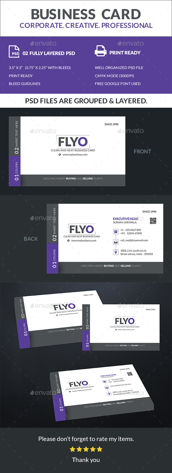 Flyo - Business Card - Business Cards Print Templates