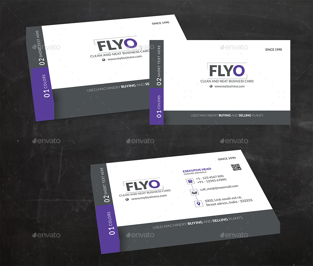 Flyo business card by sushanjariwala graphicriver flyo business card colourmoves